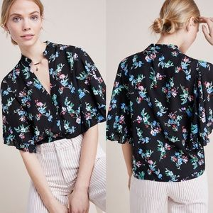 Anthropologie Maeve Aveiro Floral Blouse